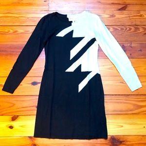 Philosophy Black and Tan Sweater Dress, EUC, M